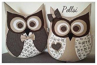Úžitkový textil - sovička párik - 10173586_