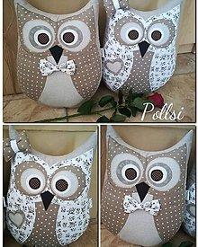 Úžitkový textil - sovička párik - 10173651_