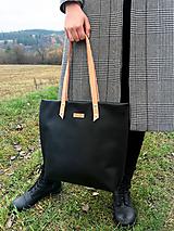 Veľké tašky - Veľká kožená taška - 10172936_