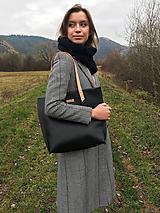 Veľké tašky - Veľká kožená taška - 10172939_