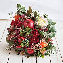 Dekorácie - Vianočná kytica - 10169025_