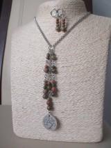 Sady šperkov - Minerálne korálky epidot - sada šperkov - chir. oceľ - STROM - 10172639_