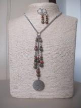 Sady šperkov - Minerálne korálky epidot - sada šperkov - chir. oceľ - STROM - 10172644_