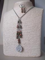 Sady šperkov - Minerálne korálky epidot - sada šperkov - chir. oceľ - STROM - 10172645_