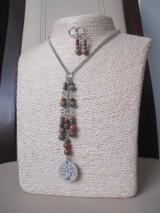 Sady šperkov - Minerálne korálky epidot - sada šperkov - chir. oceľ - STROM - 10172649_