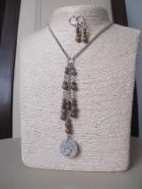 Sady šperkov - Minerálne korálky epidot - sada šperkov - chir. oceľ - STROM - 10172650_