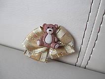 Brošňa - medvedík s mašličkou