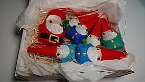 Dekorácie - Vianočné ozdoby škriatkovia - 10172824_