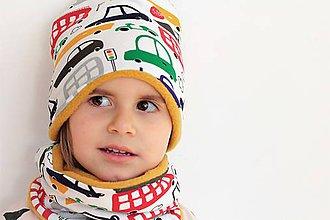 Detské súpravy - Detský setík čiapka+nákrčník naZIMU - 10169637_