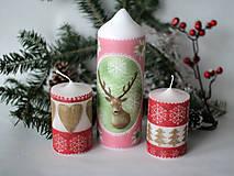 Svietidlá a sviečky - Sviečka s jeleňon - 10170895_