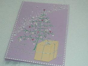 Papiernictvo - pohľadnica - Vianoce vo fialovej - 10169106_