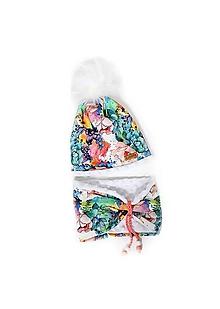 Detské čiapky - Pestrofarebný set pre malé slečny UNI veľkosť - 10172401_