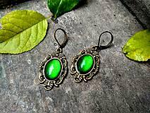 Náušnice - Baroko náušnice so smaragdovo zelenými kameňmi - 10170623_