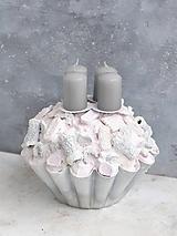 Svietidlá a sviečky - Ružovo šedá Polárka - 10172469_