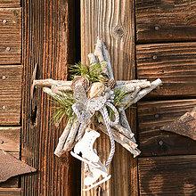 Dekorácie - Vianočná hviezdička - 10172966_