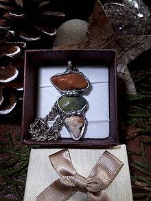Náhrdelníky - Náhrdelník s jaspisom a jadeitom - 10171986_