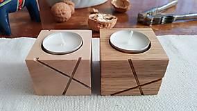 Svietidlá a sviečky - Sada svietnikov LINJE breza 3ks natur/farebná - 10170827_