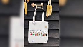 Iné tašky - ♥ Plátená, ručne maľovaná taška ♥ - 10169489_