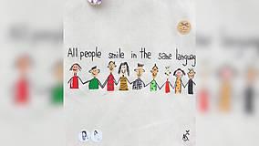 Iné tašky - ♥ Plátená, ručne maľovaná taška ♥ - 10169492_