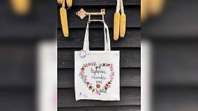 Nákupné tašky - ♥ Plátená, ručne maľovaná taška ♥ (MI11) - 10169671_