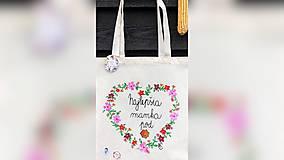 Nákupné tašky - ♥ Plátená, ručne maľovaná taška ♥ (MI11) - 10169673_
