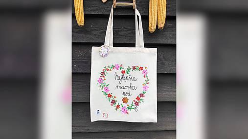 ♥ Plátená, ručne maľovaná taška ♥ (MI11)