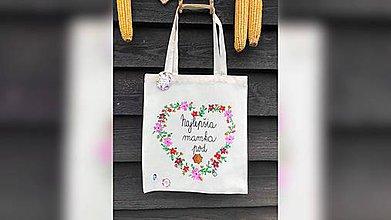 Nákupné tašky - ♥ Plátená, ručne maľovaná taška ♥ (MI11) - 10169666_