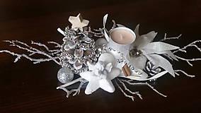 Dekorácie - Vianočný svietnik. - 10170013_