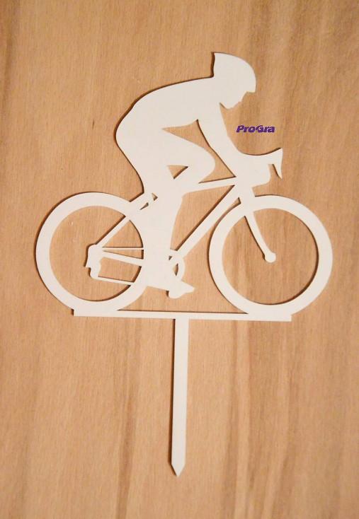 Cyklista - biely zápich