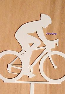 Dekorácie - Cyklista - biely zápich - 10168911_