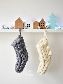 Dekorácie - Mikulášská / vianočná ponožka - 10169538_