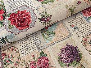 Textil - VIANOCE gobelin dovoz Francúzsko - 10171808_