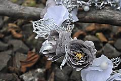 Ozdoby do vlasov - Kvetinový venček Wintertime love - 10169029_