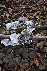 Ozdoby do vlasov - Kvetinový venček Wintertime love - 10169030_