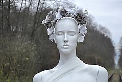 Ozdoby do vlasov - Kvetinový venček Wintertime love - 10169032_