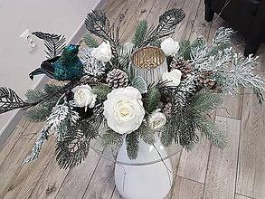 Dekorácie - Vianočný svietnik - 10173486_
