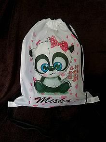 Iné tašky - Vak PANDA s menom - 10170041_