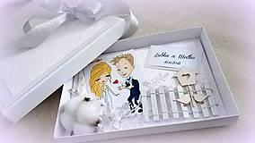 Papiernictvo - Svadobná pohľadnica v krabičke