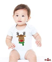 Detské oblečenie - Detské body - Reindeer (rodinné oblečenie) - 10172917_