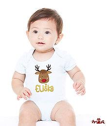 Detské oblečenie - Detské personalizované body - Reindeer (rodinné oblečenie) - 10172959_