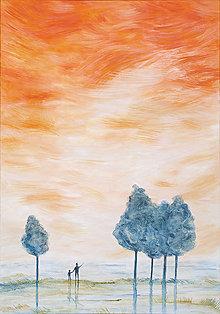 Obrazy - Oranžové nebo, obraz - 10170942_
