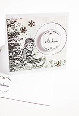 Papiernictvo - Vianočná pohľadnica s láskou - 10171842_