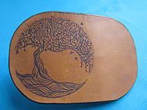 Ozdoby do vlasov - Spona kožená - 10170549_