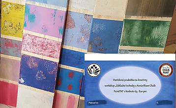 Darčekové poukážky - Darčeková poukážka na Workshop základné techniky s Annie Sloan Chalk PaintTM - 10171588_