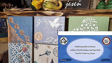Darčekové poukážky - Darčeková poukážka na Workshop pokročilé techniky s Annie Sloan Chalk PaintTM - 10171666_