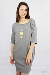 Šaty - Dámske šaty s vreckami sivé z úpletu M15 IO18 - 10173693_