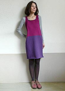 Šaty - fialová šatová sukňa - 10171694_