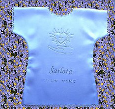 Detské oblečenie - Saténové košieľky na krst - 10175258_