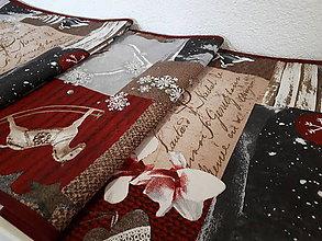 Úžitkový textil - Stredový Vianočný obrus  (Snehové vločky) - 10176154_