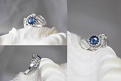 Prstene - Strieborný anjelský prsteň s kyanitom - S Tebou - 10176968_